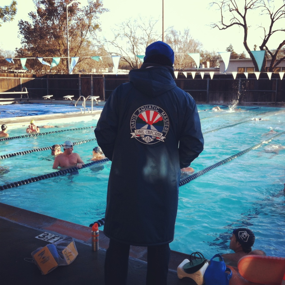 Davis Aquatic Masters on a beautiful, crisp, and cool California morning.