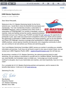 I'm officially a USMS member for 2012!