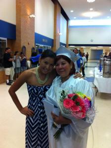 My mother and I at her graduation ceremony. May 2012.