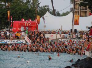 Swim start at IM WC