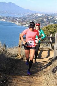 Dr. G mindfully racing Angel Island 25k last December 2013.