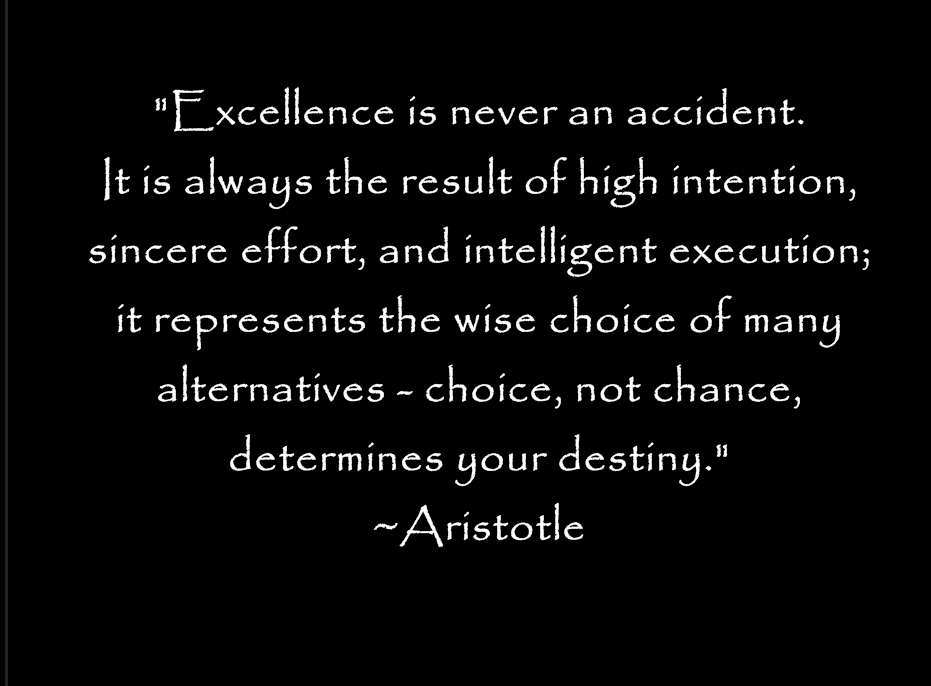 aristotles definition of excellence