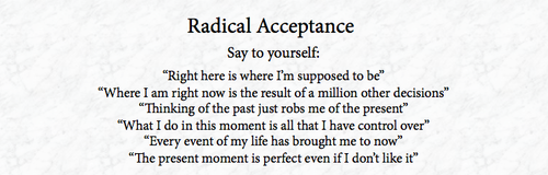 What is radical acceptance