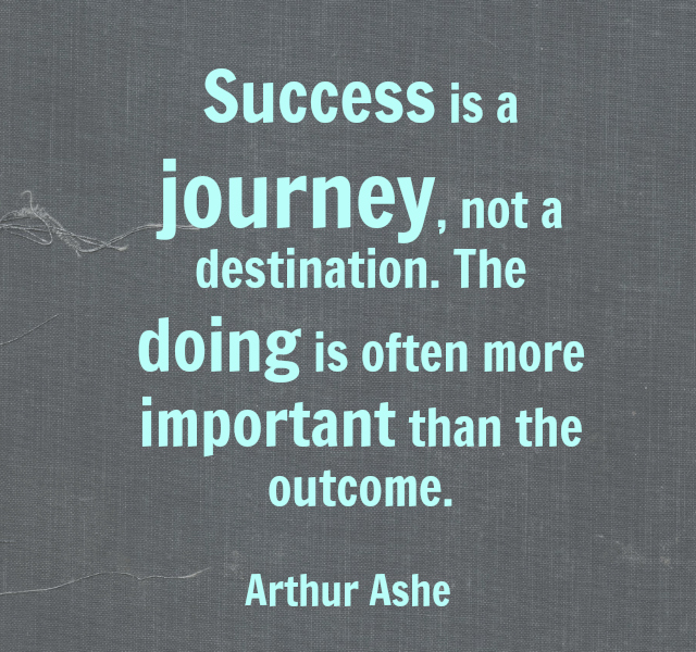 Quotes On Journey Of Success: It's The Journey And The Destination: Process And Outcome