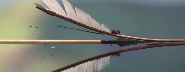 Splitting a Wooden Arrow